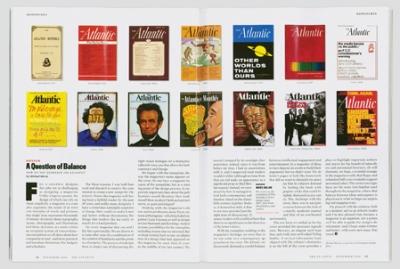 The magazine's design history.
