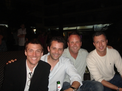 Alex & the Deutsch dudes: Eric Hirshberg, Eric Springer and Mike Bryce