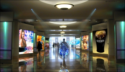 Minority Report, Mall City. Targeted advertising personalized communication in consumer-driven public space. In our narrative, the technology is appropriated by PreCrime law enforcement to track future perpetrators.