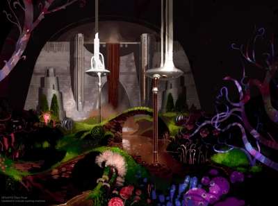 Charlie and the Chocolate Factory. Painted directly over a lens-accurate 3D model, this impressionistic concept art by Dermot Power presents a data-accurate visualization. This level of artwork allow cinematographer, visual effects supervisor, designer and director to collaborate on the look of the film.