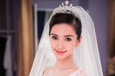 Angelababy in a Chaumet tiara