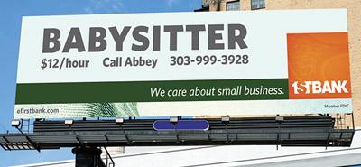 This First Bank billboard won best in show.