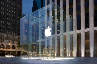 Apple's Fifth Avenue store in New York City.