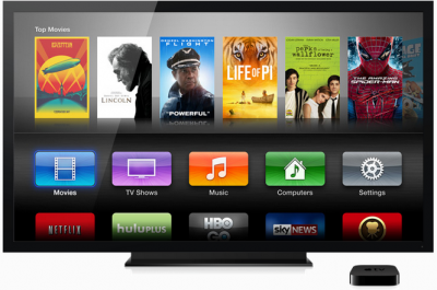 Apple's current TV platform. The company is said to be planning a much more ambitious TV service.