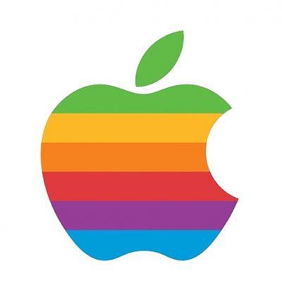 Apple logo, designed by Rob Janoff.