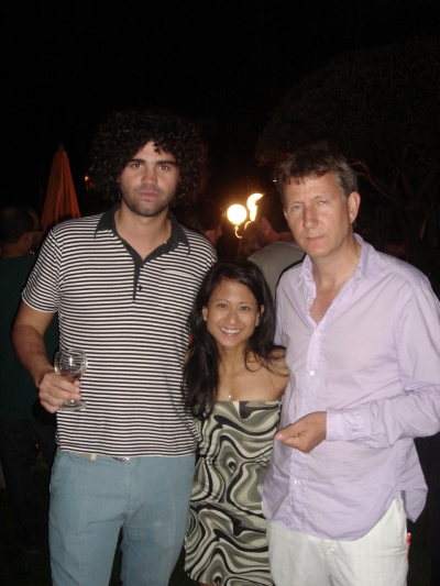 Adrien Grenier lookalike and Anonymous Content director Armando Bo, Creativity/Adcritic's Ann Diaz and Gorgeous' Paul Rothwell