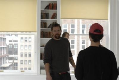 Matt Aselton on the set of Gigantic