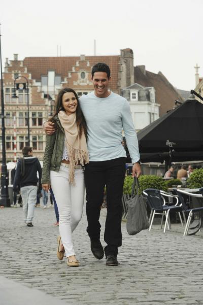 'Bachelorette' Andi Dorfman on a date in Ghent, Belgium.