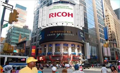 Ricoh's Times Square Eco-Billboard.