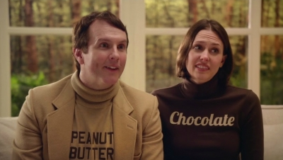 A scene from Butterfinger's teaser for its Super Bowl ad