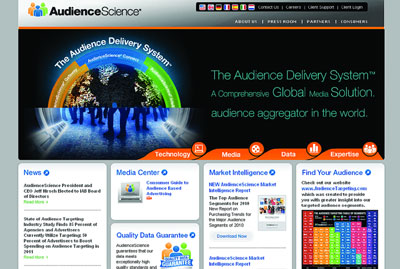 THERE'S A SCIENCE TO IT: AudienceScience bills itself as the largest and most trusted audience aggregator in the world.