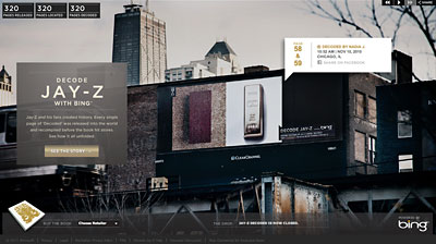 Another outdoor win for a New York-based shop. this time the honors went to Droga 5 and Bing.