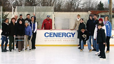 Cenergy volunteers worked up to 18 hours a day to open an ice arena for their community.