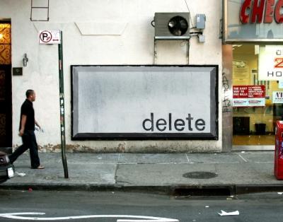 Delete, by Ji Lee.