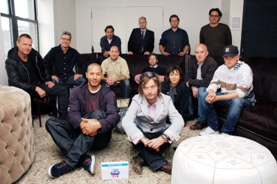 The Directors: Back row, from left: Frank todaro, Moxie Pictures; Mike maguire, The Directors Bureau; Neill Blomkamp, RSA; Kinka Usher, House of Usher; Middle row, from left: Nicolai Fuglsig, MJZ; Jim Jenkins, Hungry Man; Steve Miller, @radical.media; Ran