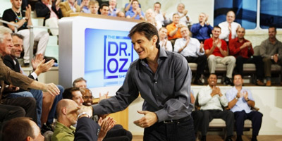 Dr. Oz speaks softly and plainly, presenting his health and wellness information in a way that is at once nuanced and easily digestible.