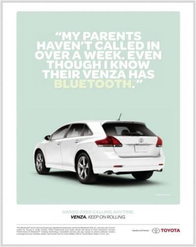 A Toyota Venza ad that appeared in Time Inc. titles