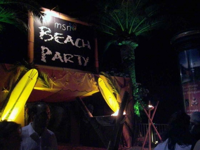 The Palm Beach Casino transformed into MSN's tiki party