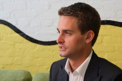 Snapchat CEO Evan Spiegel.