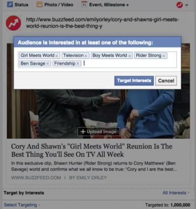 Publishers can now target their Facebook posts to fans interested in certain topics.