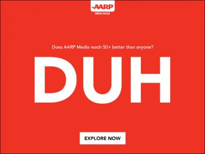 An example of an AARP ad aimed at millennials.