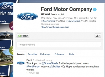 Ford Twitter