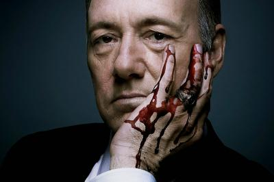 Kevin Spacey as the manipulative Frank Underwood on 'House of Cards.'
