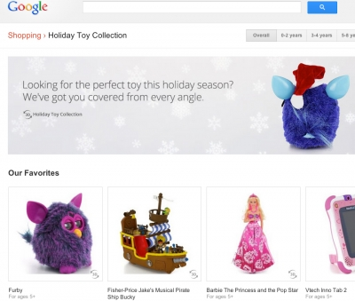 Google's Holiday Toy Collection