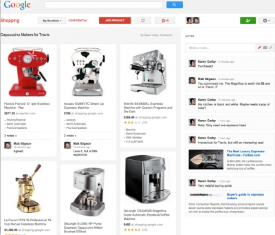 Google's Shortlists tool