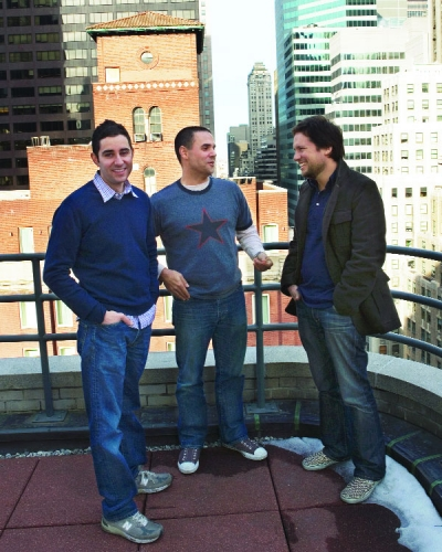 Graf (center) with TBWA creatives like Ian Reichenthal (left) and Scott Vitrone