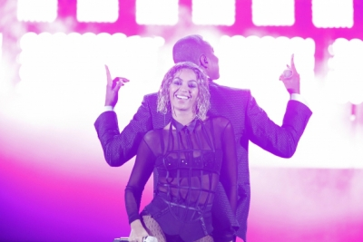 Beyonce and Jay Z perform at the Grammys on CBS last month