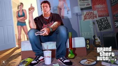 Promotional digital wallpaper for 'Grand Theft Auto V'