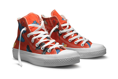To mark World AIDS Day, Converse is releasing the Damien Hirst for Converse (PRODUCT) RED Chuck Taylor All Star shoe. The company is contributing 100% of the net profit of this shoe to the Global Fund to Fight AIDS, Tuberculosis and Malaria.