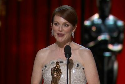 Julianne Moore wins the Oscar for actress in a leading role her part in 'Still Alice.'