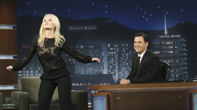 Elisha Cuthbert from 'Happy Endings' on 'Jimmy Kimmel Live'