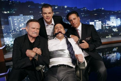 Matt Damon 'hijacked' 'Jimmy Kimmel Live' with the help of Robin Williams and Andy Garcia