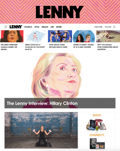 Lenny's new homepage.