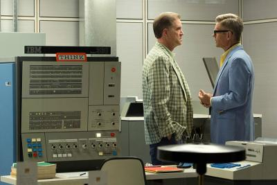Early days: Jim Cutler and Lou Avery talk computers in marketing on 'Mad Men'
