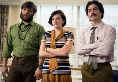 Stan Rizzo (Jay R. Ferguson), Peggy Olson (Elisabeth Moss) and Michael Ginsberg (Ben Feldman) in the fourth episode of this season's 'Mad Men.'
