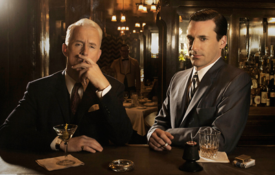 'Mad Men' characters Roger Sterling and Don Draper.