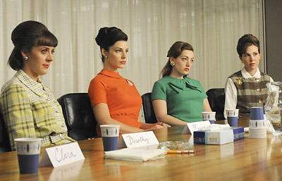 Sterling Cooper's secretaries take part in an extremely emo focus group for Pond's Cold Cream in episode four of the fourth season of 'Mad Men.'