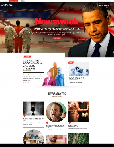 The new Newsweek.com, which is scheduled to go live today