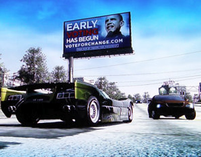 Is Obama advertising in video games?