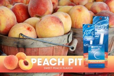 An ad for White Cloud's sweet peach flavored e-cigarettes.