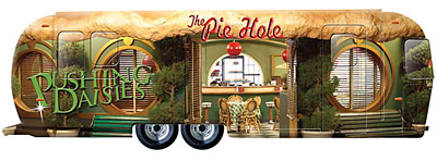 An Airstream trailer made to look like the Pie Hole restaurant from 'Pushing Daisies' will make its way from downtown Disneyland to Times Square.