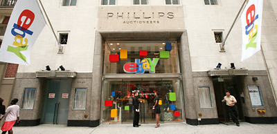 eBay's space at 57th Street and Fifth Avenue in Manhattan.