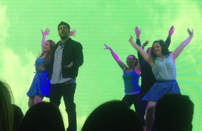 The cast of 'Psych: The Musical' performs at USA's upfront