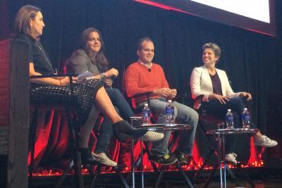 Moderator Sophie Kelly with Rachel Shechtman, Alex Bell and Nikki Kaufman at their Advertising Week talk on retail.