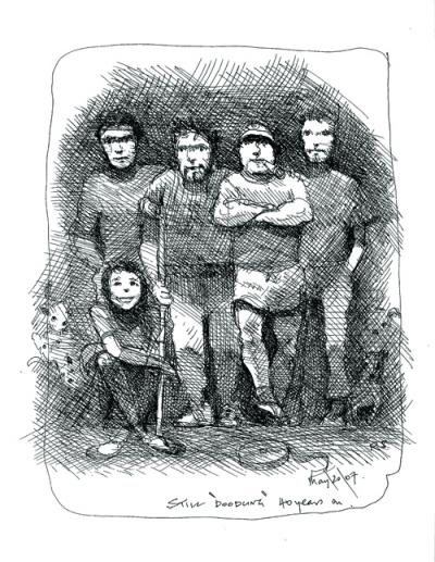 The Scotts, clockwise from bottom left: Jordan, Luke, Ridley, Tony and Jake