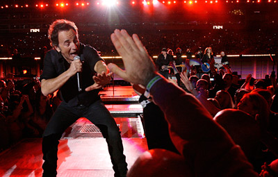 Bruce Springsteen performs at the Super Bowl XLIII halftime show.